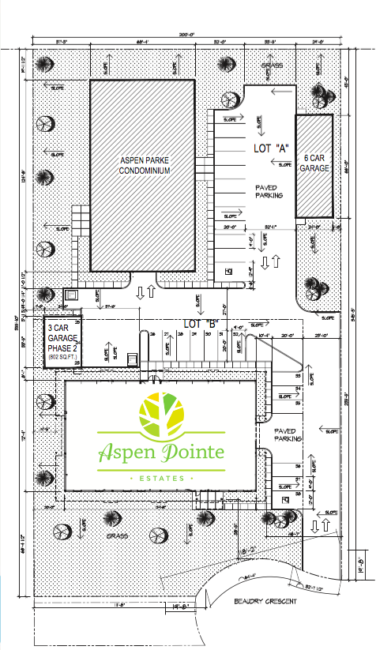 Martensville condo site plan Aspen Pointe Estates