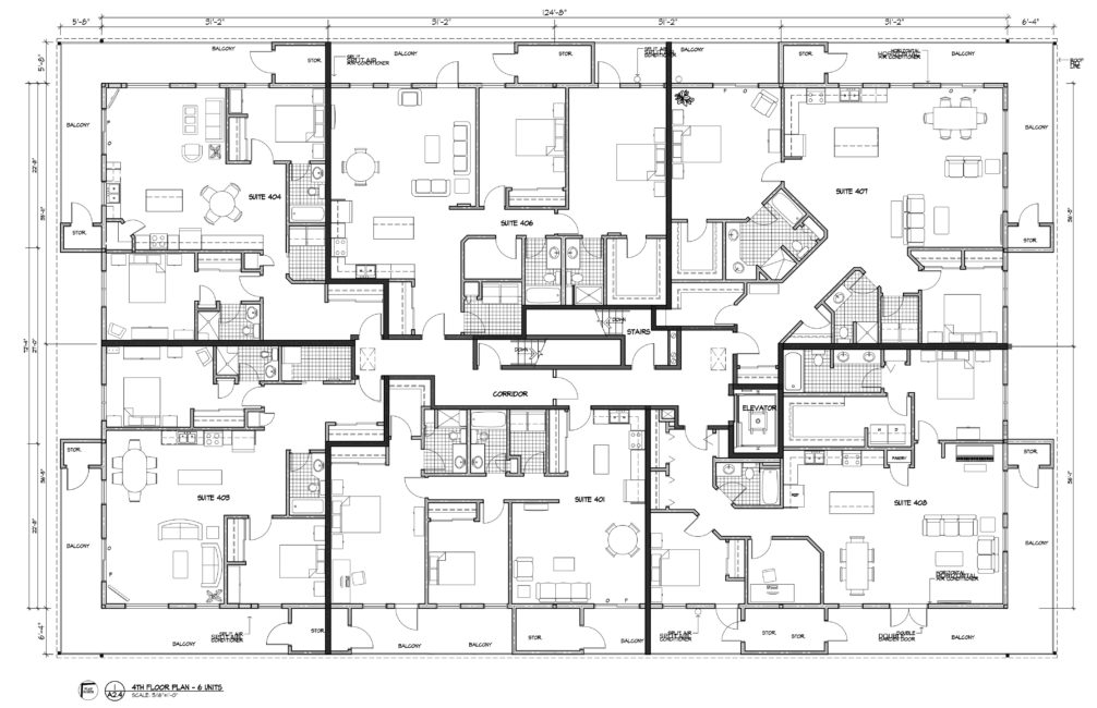 Fourth floor layout